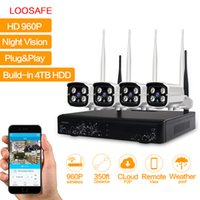 LOOSAFE HD 960P 4CH Waterproof Wireless Wifi Camera System Segurança no interior e exterior NVR CCTV Kits de câmera IP