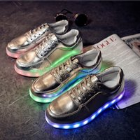 Wholesale Cheap Rubber Flooring Wholesale - Hot sale LED Shoes light colorful Flashing Shoes with USB Charge Unisex Couple Shoes For Party Sport Casual Shoes XMAS gift 8 colors cheap