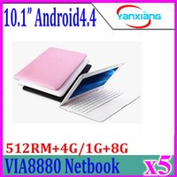 10inch Android 4.4 ultra sottile mini Netbook PC laptop computer 512MB / 4G Dual Core 5pcs disponibile Wifi della macchina fotografica ZY-BJ-3
