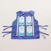 mardi gras maskot kostüm toptan satış-Yüksek sıcaklık koruyucu giysiler, yaz soğutma yelek maskot kostüm buz paketi soğutma monte edilebilir