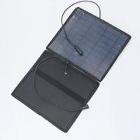 18v strombatterie groihandel-Neue 5.5W 18V Portable Solarpanel Power Battery Charger Backup für Auto Moto Power / andere 12V Akku Kostenloser Versand