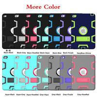 Wholesale Combo Skin Cover Case - Top qulity Robot Combo 2 in 1 Tablet PC Case Cover Protective shell for iPad Pro 9.7 ipad 2 3 4 Air1 2 mini4