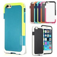 Wholesale Candy Case Iphone5s - Candy Double Color ARMOR Soft Hybrid Back Case For iphone5s se 6g 6plus Shockproof Cell Phone Cover Bag