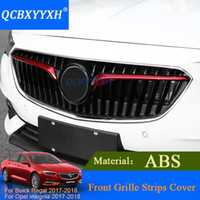 QCBXYYXH 2pcs / LOT Автомобиль Styling ABS для Buick Regal Opel Insignia 2017 2018 Front Grille Strips Cover Внешние украшения Sequins