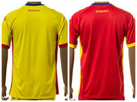Cheap freeshipping-freeshipping - Romania Soccer Jersey 2016 Custom,Personalized,Make Customized Team Red Road Yellow Football Shirt Uniform Kits Foot Tshirt