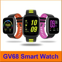 GV68 MTK2502 Smart Watch IP68 Impermeabile Bluetooth Sport orologi Heart Rate Water Clock Messaggio Chiamata Promemoria Per IOS / Android con scatola al minuto