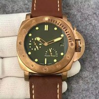 Wholesale Pam Power Reserve - 47MM pam507 pam00507 pam 507 real bronze tough men Submersible 1950 3 Days Power Reserve Automatic P.9002 Bronzo watch men wristwatch