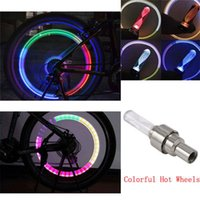 Wholesale Beautiful tools Bicycle Car LED Neon Tire Wheel Nozzle Valve Core Glow Stick Light for Cycling