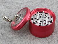 Wholesale herb spice hand grinder resale online - Herb Grinder mm Metal Alloy Handle Grinder Tobacco Grinder Layer Mill Muller Spice Crusher Aluminum Hand Crank Grinders DHL