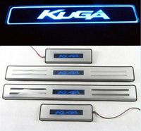 Wholesale led illuminated door sills - Car Styling for Ford kuga Escape accessories 2013 2014 2015 2016 led auto door sill protector illuminated door sill scuff plate guard