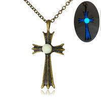 Wholesale chain united jewelry for sale - Group buy Europe and the United States Hot luminous beads cross necklace retro male Ms Jesus luminous pendant jewelry