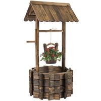 ingrosso ornamento albero denaro-Decorazioni per la casa da esterno in legno
