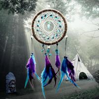 hayal tutucu stili toptan satış-Rüzgar Çanları Hint Tarzı Tüy Kolye Dream Catcher Ev Dekor Asılı Dekorasyon Güzel Hediye