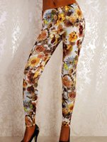 New Arrival Fashion Women Mid Waist Sexy Romântico Blue Rose Manor Leggings Ankle-Length Print Leggings wl041