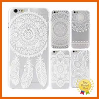 Wholesale Blue Floral Iphone Cases - Sunflower Mandala Style Floral Lace Lovely Protective Sleeve Phone Case Cover For Apple iPhone 7 6 6s plus 4.7 inch