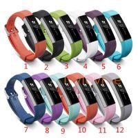 силиконовые полоски для часов оптовых-Горячие Продажи! Силиконовые замена ремни группа для Fitbit Альта смотреть интеллектуальный нейтральный классический браслет ремешок группа с иглой Застежка
