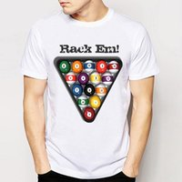 Track Ship + New Retro Cool Retro freddo Rack em T-shirt punk t-shirt! Pool Balls Biliardo Uomo Top Tee