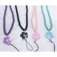 Wholesale Pink Lanyard Rhinestones - 2016 New arrival luxury stylish cell phone shell for luminous lanyard cell phone hanging neck Bling Clear rhinestone lanyards