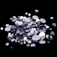 cristal rhinestone cristal chatons venda por atacado-Tanzanite SS12-SS30 Não Hotfix cristal strass Facetas Flatback Glue em strass Diamantes de vidro Chatons DIY Artesanato Vestuário Decoração