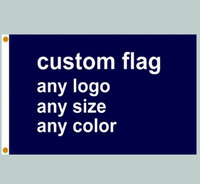Wholesale advertisement printing - 20pcs Fedex Free Shipping Custom Flag Banner Printing Any Size company advertisement flags and banners Polyester Fabric with Copper Grommets