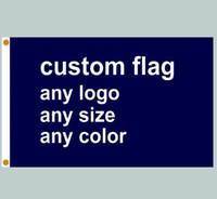 печать по электронной почте оптовых-FedEx Бесплатная доставка пользовательские флаг баннер печать любого размера компании рекламные флаги и баннеры полиэфирная ткань с медными люверсами