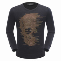 Wholesale Hot New Novelty Products - New Products Hot Deals Men's Fashion Skeleton Bits Pullover Long Sleeve Brand Cotton Cashmere Top Round Neck High Quality Hoodie Sweater