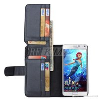 Wholesale Multi Function Id - Multi-Function Folding Wallet Stand Leather Case Cover W  7 ID Card Slots + Photo Frame for Samsung Galaxy Note 5 S6 Edge PlusS GN5C1