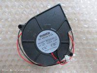 Wholesale 12v Radiator Fan - 2 pcs fan about on radiator fan 7530 B7530M12 12V 0.15A 1.8W 7.5CM 2 wire cooling fan Free shipping