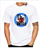 Wholesale rock band sale - 2017 THE WHO T Shirt Rock Band T-shirt Hot sale Music DJ Male & Famale