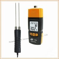 Wholesale Measuring Can - Wholesale-LCD display Wood Moisture Meter 2pin Contact Style Woodworking Tools Can Measure Ambient temperature and humidity
