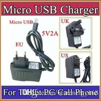 "Wholesale Uk Phone Adapter - Micro USB 5V 2A Charger Converter Power Adapter US EU UK plug 100-240V AC for 7"" 10"" 3G MTK6572 MTK6589 MTK6592 Tablet PC phone Phablet B-PD"
