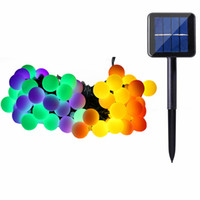 Cheap solar supply led - 21ft led large bulb string light Solar outdoor patio lanterns decorated wedding celebration party supplies Christmas tree light strings