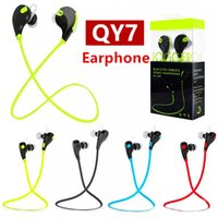 Wholesale Running Music Free - QY7 Earphone Bluetooth Headphones In-ear Headsets Bluetooth Stereo Earphone Fashion Sport Running Headset Studio Music Earphone DHL Free