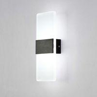 modern yeni led duvar lambası toptan satış-Yeni LED Duvar Lambası 3W Basit yatak odası başucu lambası Restoran Otel çalışma odası duvar lambası