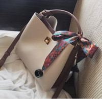Wholesale scarves yellow free shipping for sale - Group buy 2017 New Women Bags Fashion Bucket Bag Designer Handbag Casual Scarf hand Shoulder Messenger Bag retail