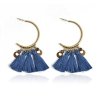 Wholesale long metal wholesale fashion earrings - Fashion tassel earrings 7 colors Colorful Long tassel Metal Dangle Earring for Women Vintage Drop earring Wedding Party Jewelry