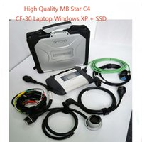 Gros-MB Star C4 SD Connect avec XENTRYVEDIAMO mb Diagnostic Multiplexeur Pour Benz CarTruck CF30 windows XP sd étoiles