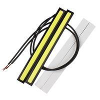 ingrosso ha portato il prezzo delle luci di coda-2 Pz 17 CM LED COB DRL Luce Corrente Diurna Impermeabile DC12V Esterno Led Car Styling Auto Sorgente Luminosa Parcheggio Nebbia Bar Lampada