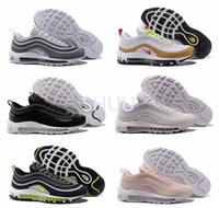 Wholesale Neon Pink Tops - Air 97 Ultra Wolf Grey Neon Black Pink Snakeskin Women Men Running Shoes Top Qualty 97 Premium White Gold 97 OG Designer shoes