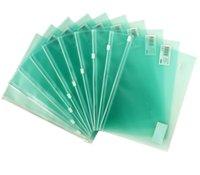 Wholesale Packaging Eraser - Translucent zipper bag plastic edge bag envelope package translucent multicolor can hold school supplies Pen eraser ruler ect