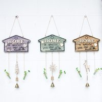 New Wood Wind Chimes Ornamento creativo Piccolo pendente Portable Windchime Home <b>Yard Garden Outdoor Living</b> Decor