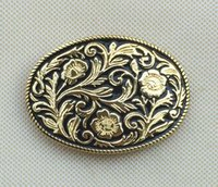 Wholesale Western Floral Belt Buckle - Western Cowgirl Belt Buckle with pewter finish SW-BY233 suitable for 4cm wideth belt with continous stock