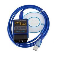 Wholesale Elm327 Usb Scanner Tool - New Vgate USB ELM327 OBD2 newest V2.1 OBDII diagnostic tool ELM 327 auto car scanner OBD 2 reader Tester