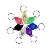 Wholesale Led Keychain Color - Outdoor Sport LED Light Keychain Keyring Money Detector High Quality Protable Mini Car Key Accessories 7 Color 2503051