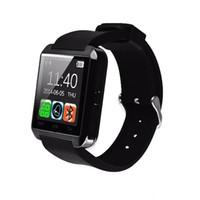 умные часы u8 dhl оптовых-Bluetooth SmartWatch U8 U Часы Smart Watch наручные часы для iPhone 4 4S 5 5S Samsung S4 S5 Примечание 2 Примечание 3 HTC Android телефон DHL