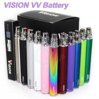 Wholesale spinning dhl - Vision Spin Ego twist battery ecigs Electronic cigarette ego c vv 1300mAh 1100mAh 900mAh 650mAh Variable Voltage 3.3-4.8V ego atomizer DHL