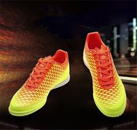 Wholesale Football Cards Boxes - Ghost Card Style Trainers Shoes Men Soccer Sport Trainning Football Shoes Running Shoes Breathable Wear Resisting Athletic Mens Shoes