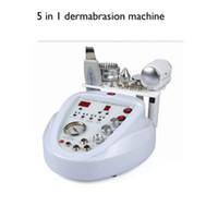 Wholesale Diamond Ultrasonic - 5 in 1 diamond microdermabrasion skin scrubber ultrasonic peeling machine