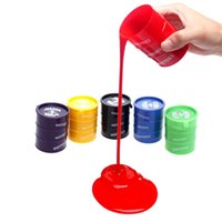 24pcs / lot Funny Kids Paint Oil Slime Toy Barrel O Slime Prank Trick Joke Gag De Brinquedos Presente de aniversário Play for Children Free DHL
