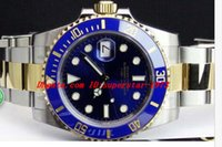 Wholesale Christmas Files - Top Quality Luxury Watches Sapphire 40mm Blue Index Dial 116613 Automatic Sport Mens Watch Men's Wrist Watches Original Box File